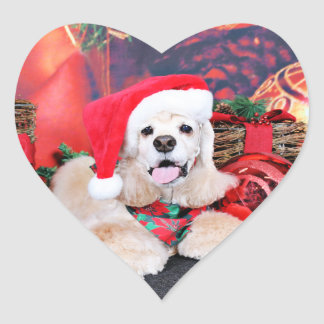 Christmas - Cocker Spaniel - Tobey Heart Sticker