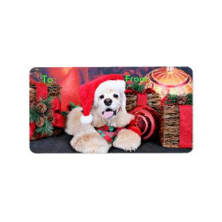 Christmas - Cocker Spaniel - Tobey Labels