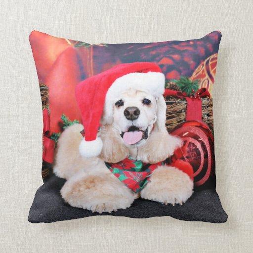Christmas - Cocker Spaniel - Tobey Throw Pillows