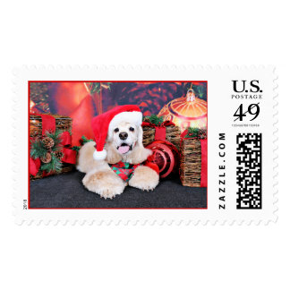 Christmas - Cocker Spaniel - Tobey Postage Stamps