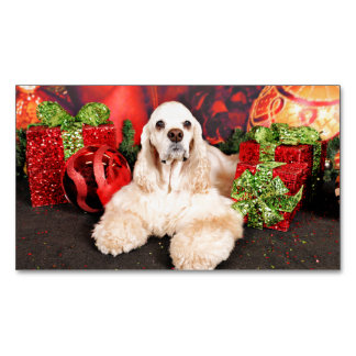 Christmas - Cocker - Toby, Havanese - Little T Magnetic Business Card