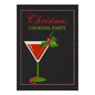 christmas cocktail party holiday poster - Christmas Cocktail Party
