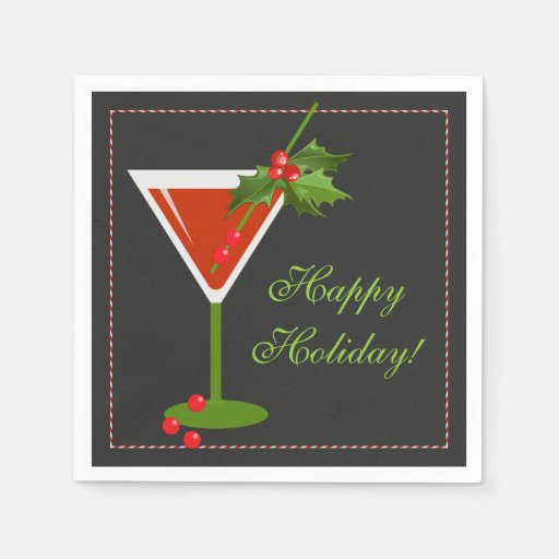 Funny christmas cocktail napkins are