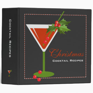 Christmas Cocktail Recipes Binder