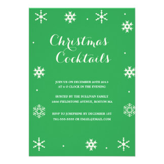 Christmas Cocktails Holiday Invite