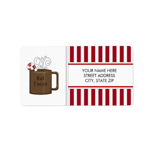 Christmas Cocoa Address Mailing Labels