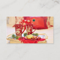 Christmas Cocoa and Cookies Business Card