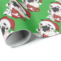 Christmas cocoa cow wrapping paper
