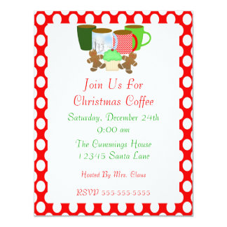Christmas Coffee Invitation