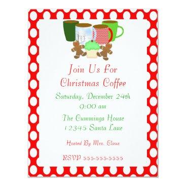 Coffee Themed Christmas Coffee Invitation