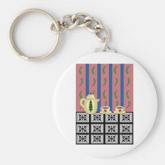 Christmas Coffee or Tea Keychain