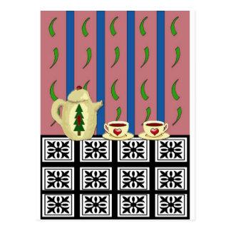 Christmas Coffee or Tea Postcard