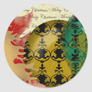 Christmas-collage Classic Round Sticker