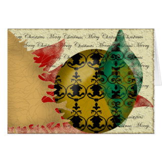 Christmas-collage greeting card