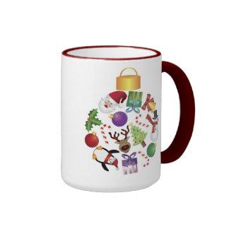 Christmas Collage Ornament Mug