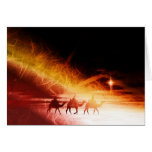Christmas collage, warm colors greeting card