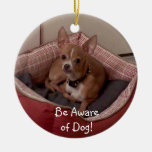 Christmas Collection Add Pet Photo/Other Photos Double-Sided Ceramic Round Christmas Ornament
