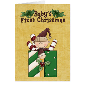 Christmas Collection Baby's 1st Xmas Greeting Card