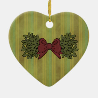 Christmas Collection Bow Heart Tree Ornament