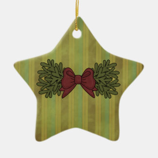 Christmas Collection Bow Star Tree Ornament