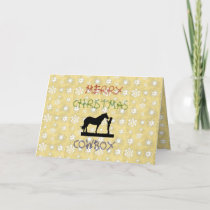 Christmas Collection Cowboy Horse Greeting Card