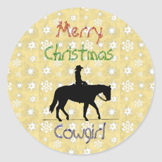 Christmas Collection Cowgirl Horse Stickers