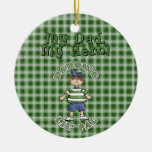 Christmas Collection Daddy's LIL Pal Double-Sided Ceramic Round Christmas Ornament