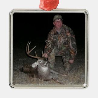 Christmas Collection Deer Hunter's Add Photo Metal Ornament