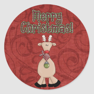 Christmas Collection Fun Reindeer Stickers