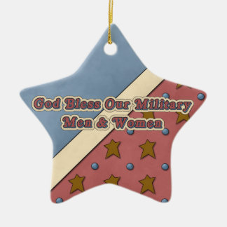 Christmas Collection God Bless Our Military Star Christmas Ornament