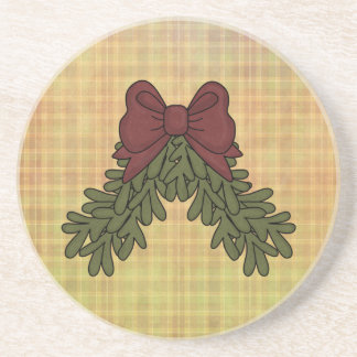 Christmas Collection Matte Finish Coaster Bow