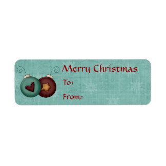 Christmas Collection Name Gift Tags Stickers Label