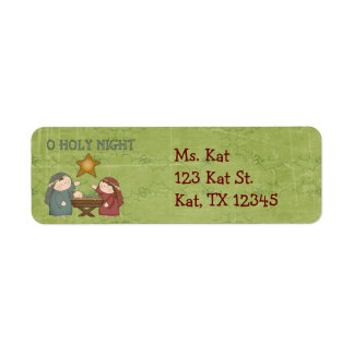 Christmas Collection O Holly Night Return Address  Label