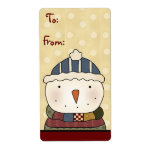 Christmas Collection Snowman Gift Tags Labels