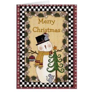Christmas Collection Snowman Xmas Tree Greetings C Card
