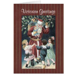 Christmas Collection Victorian Santa Children Card