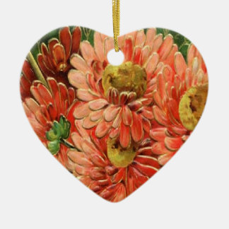 Christmas Collection Vintage Floral Ceramic Ornament