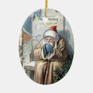 Christmas Collection Vintage Saint Nicolas Ceramic Ornament