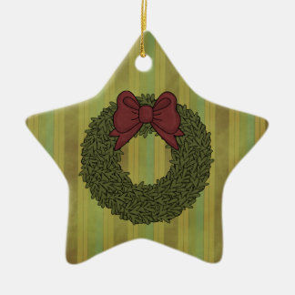 Christmas Collection Wreath Star Tree Ornament