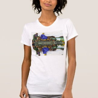 Christmas Collectors Mary and Joseph Women Shirts