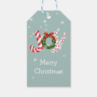 Christmas Color Filled Joy Gift Tags
