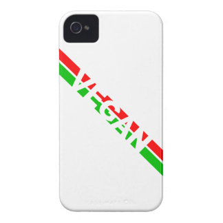 Christmas Colored Vegan Stripes Case-Mate iPhone 4 Case