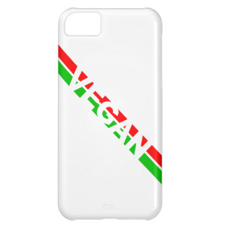 Christmas Colored Vegan Stripes iPhone 5C Cover