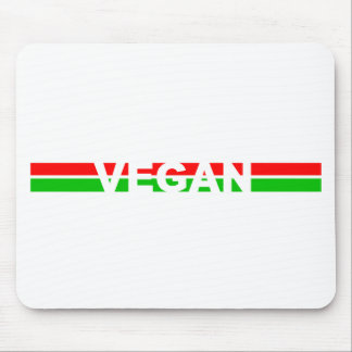 Christmas Colored Vegan Stripes Mouse Pad
