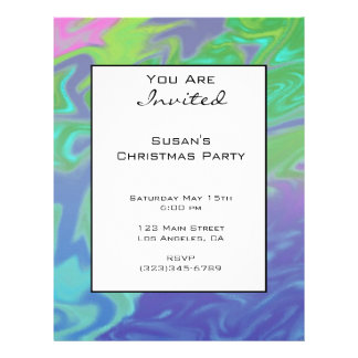 """Christmas Colorful Green Blue 8.5"""" X 11"""" Flyer"""