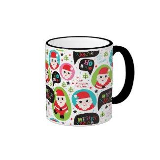 Christmas colorful Santa background Coffee Mug