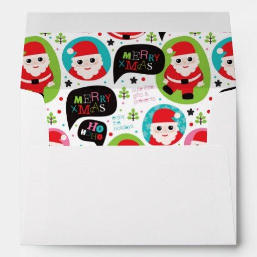 Christmas colorful Santa background Envelopes