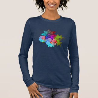 Christmas Colorful Succulent Floral Long Sleeve T-Shirt