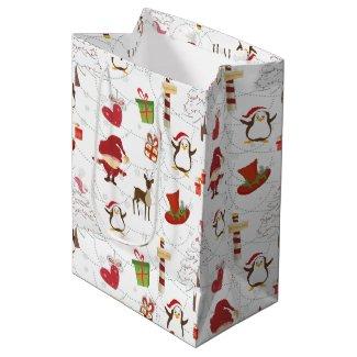 Christmas Colorful Symbols 2 Changeable Background Medium Gift Bag