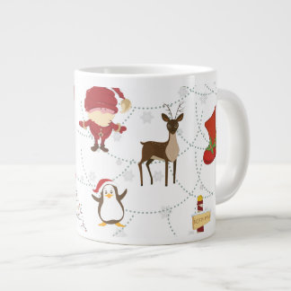 Christmas Colorful Symbols 2 Changeable Background Giant Coffee Mug
